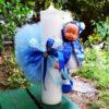 lumanare cu bebelus albastru