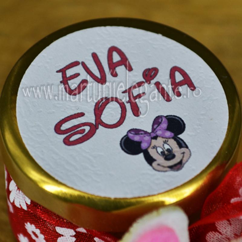 Eticheta Botez Cu Minnie Mouse Marturii Elegante Etichete Ieftine