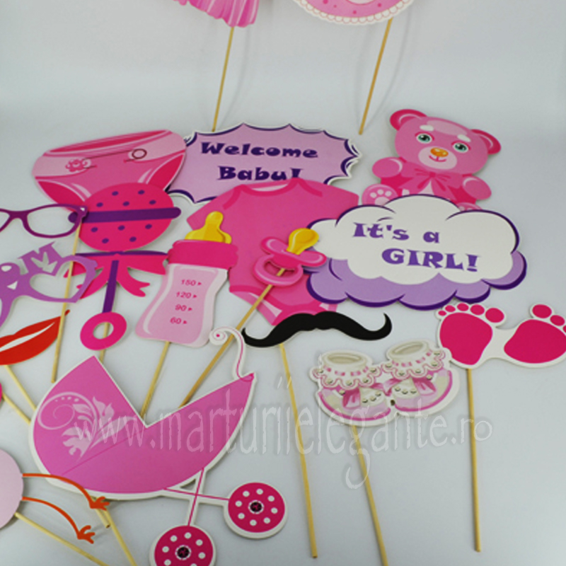 Accesorii Haioase Pentru Poze Baby Girl Photobooth Marturii